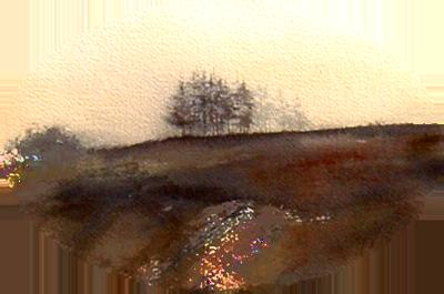 I paesaggi delle opere di Giampiero Pierini acquerelli