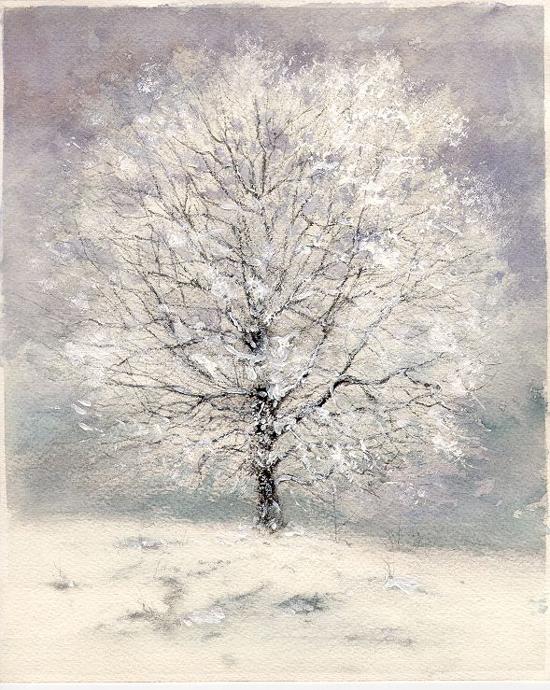 I paesaggi degli acquerelli di Giampiero Pierini, Quattro stagioni, inverno
