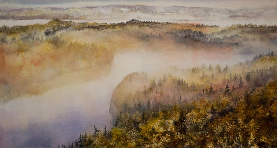 I paesaggi degli acquerelli di Giampiero Pierini, Oltre i boschi e oltre i laghi