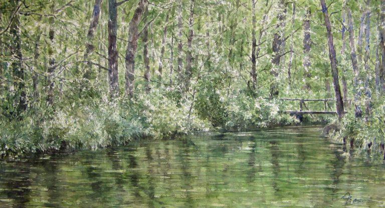 I paesaggi degli acquerelli di Giampiero Pierini, Verdi specchi d'acqua