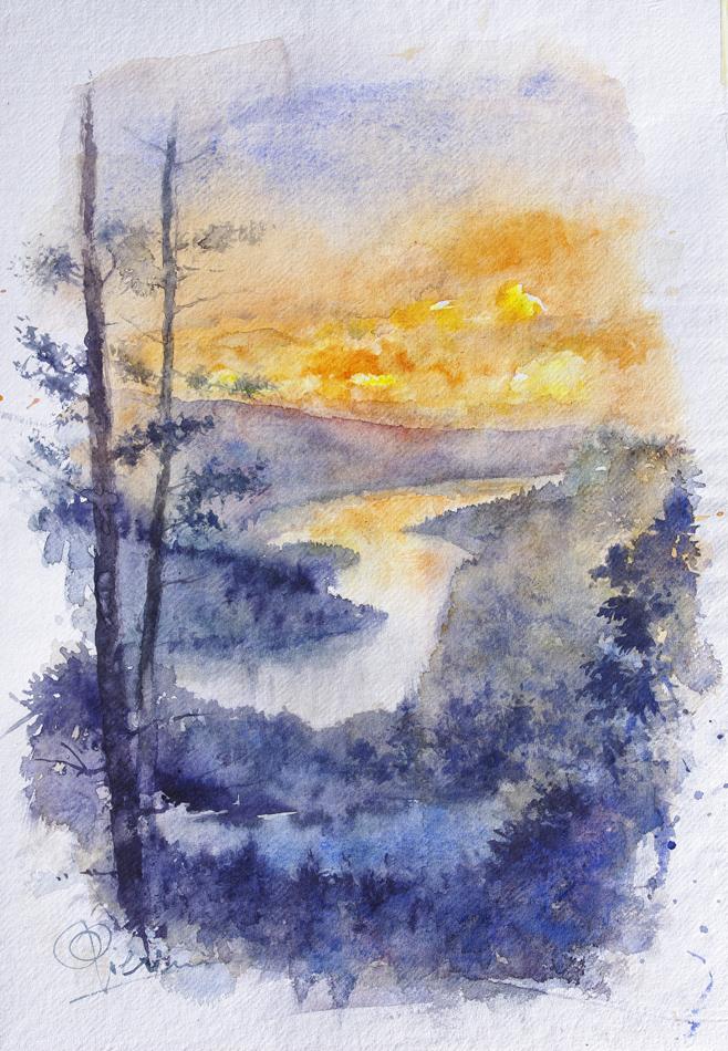 I paesaggi degli acquerelli di Giampiero Pierini, Territori del nord