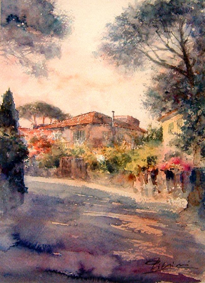 Roma e la campagna romana degli acquerelli di Giampiero Pierini, casale a Quarto Miglio