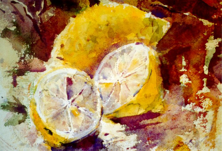 Le composizioni degli acquerelli di Giampiero Pierini, Limoni