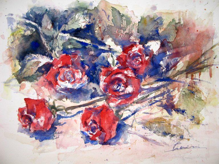 Le composizioni degli acquerelli di Giampiero Pierini, Composizione di rose