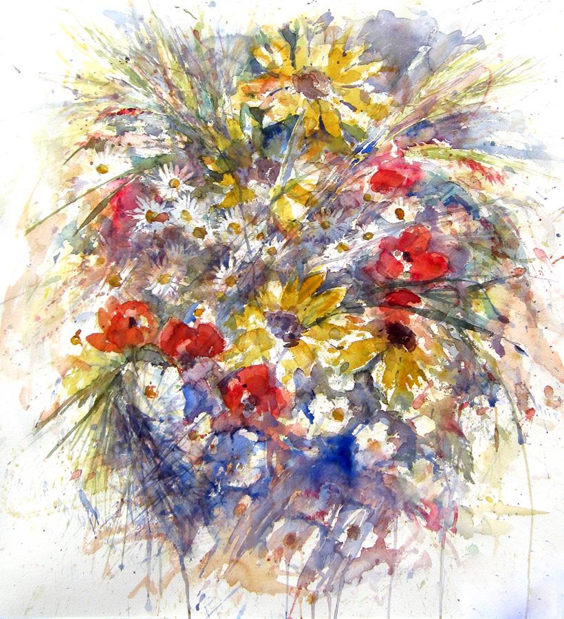 Le composizioni degli acquerelli di Giampiero Pierini, Estemporanea a Marino, Vaso di fiori
