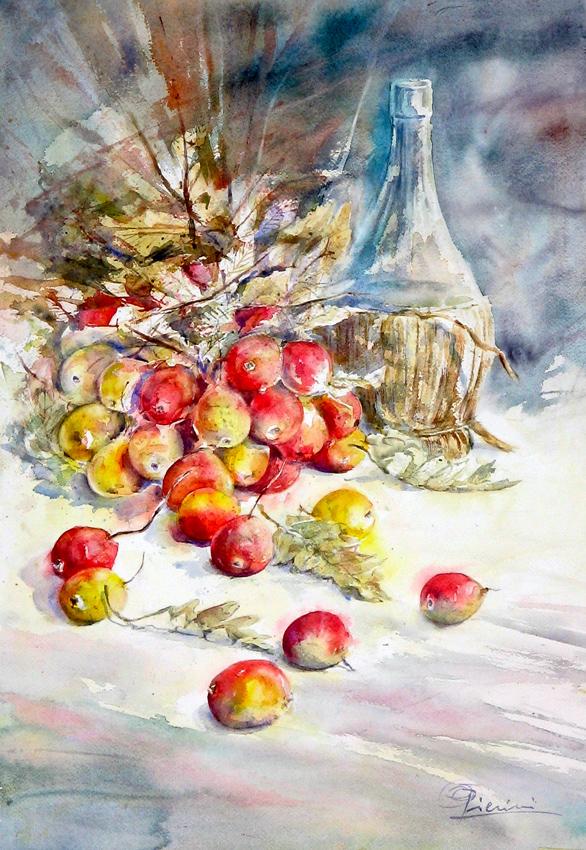 Le composizioni degli acquerelli di Giampiero Pierini, Le sorbe dimenticate