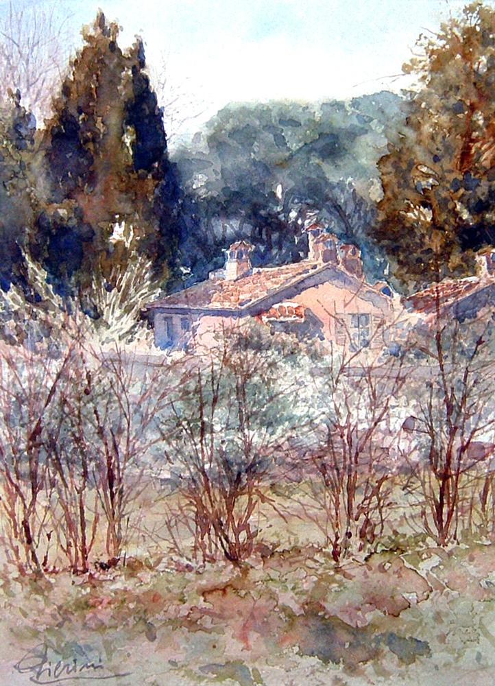 Roma e la campagna romana degli acquerelli di Giampiero Pierini, campagna romana