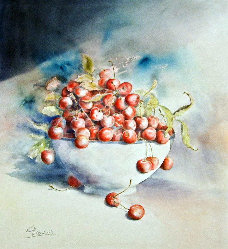 Le composizioni degli acquerelli di Giampiero Pierini, Profumo d'estate