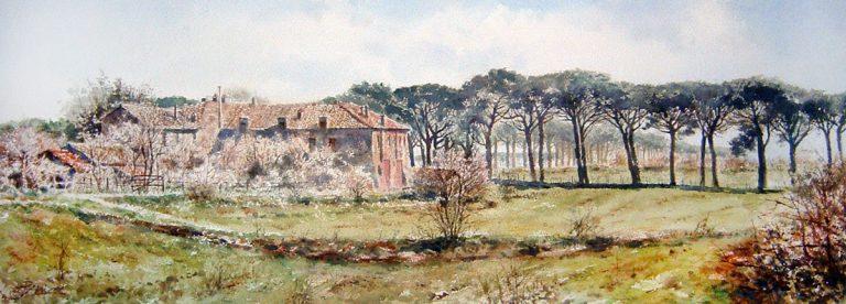 Roma e la campagna romana degli acquerelli di Giampiero Pierini, Roma vecchia