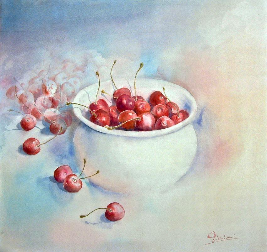 Le composizioni degli acquerelli di Giampiero Pierini, Rotolando, rincorrendo e deliziando