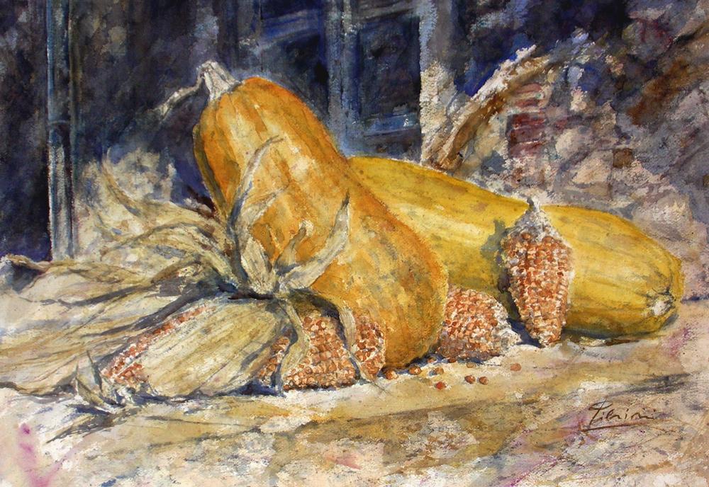Le composizioni degli acquerelli di Giampiero Pierini, Dall'orto di Peppe