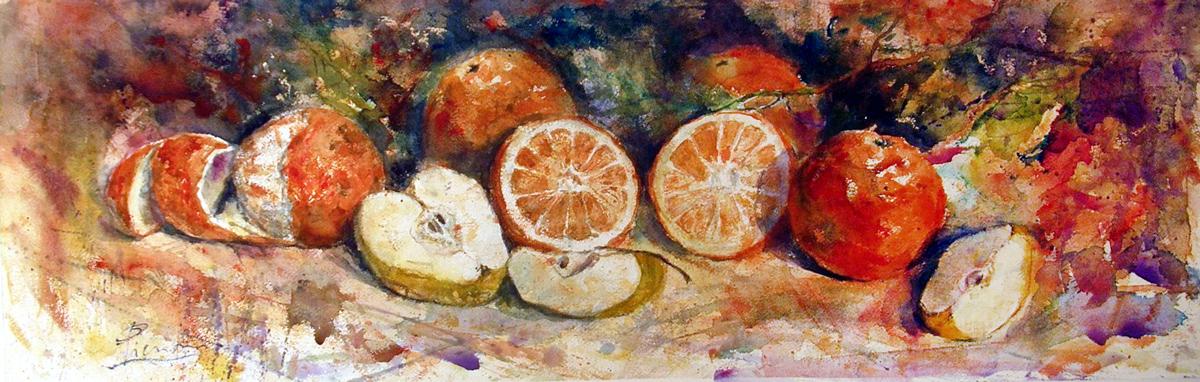 Le composizioni degli acquerelli di Giampiero Pierini, Natura morta di frutta