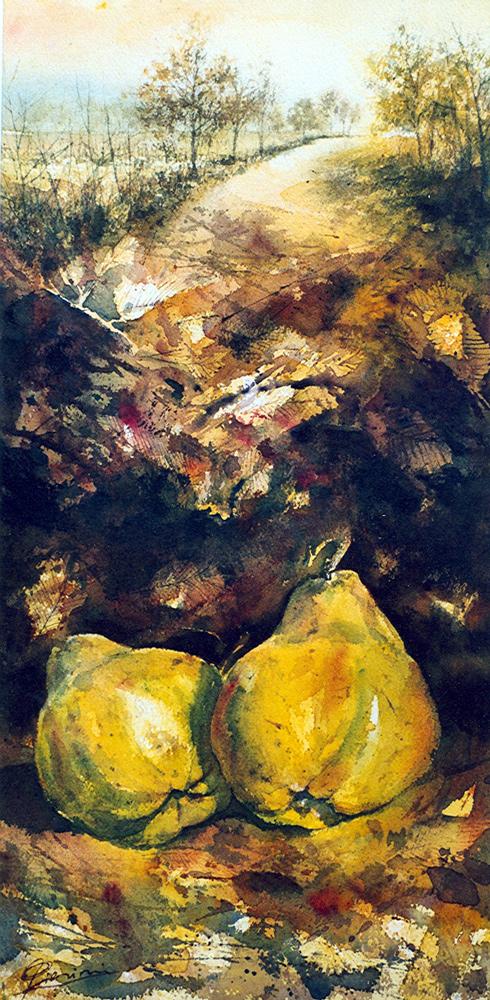 Le composizioni degli acquerelli di Giampiero Pierini, Strada di campagna