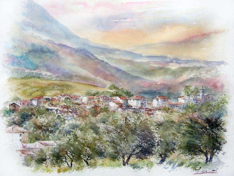 I paesaggi degli acquerelli di Giampiero Pierini, estemporanea di Turrivalignani