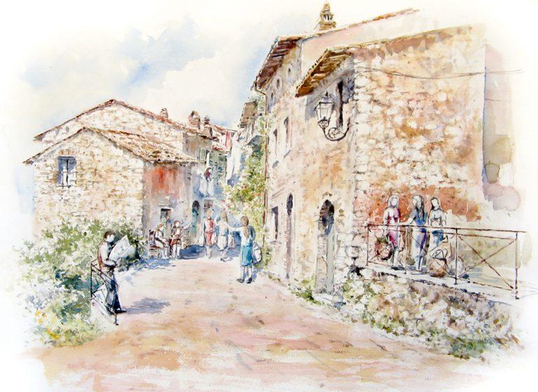 Altre opere e soggetti degli acquerelli di Giampiero Pierini, San Polo dei cavalieri