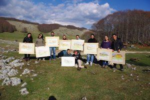 Corso di pittura di Giampiero Pierini per il Servizio Civile Lucretili Simbruini