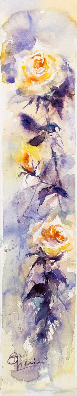 Le composizioni degli acquerelli di Giampiero Pierini, fiori