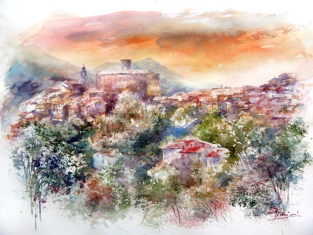 I paesaggi degli acquerelli di Giampiero Pierini, San Vito Romano