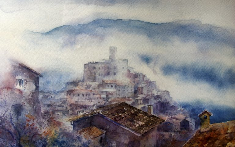 I paesaggi degli acquerelli di Giampiero Pierini, Cineto Romano