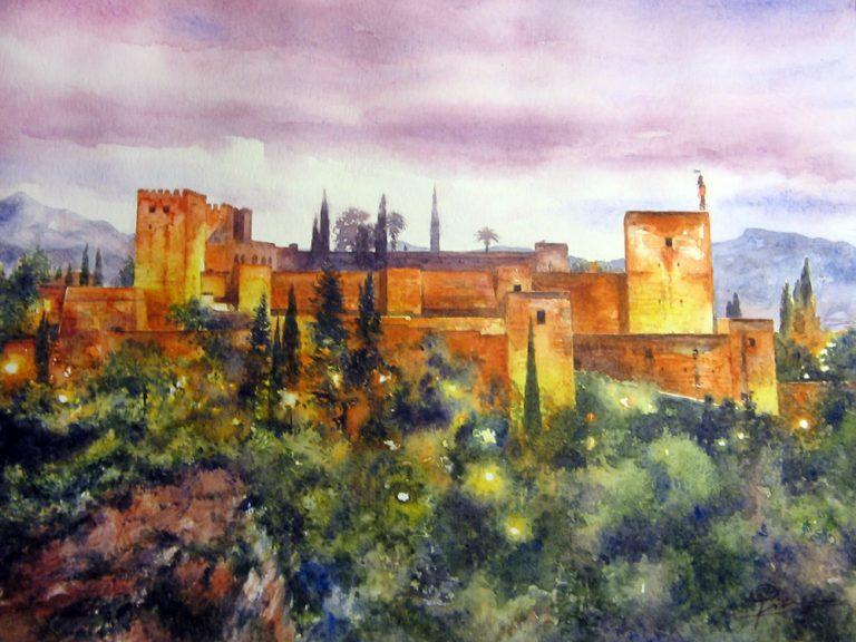 I paesaggi degli acquerelli di Giampiero Pierini, Alhambra