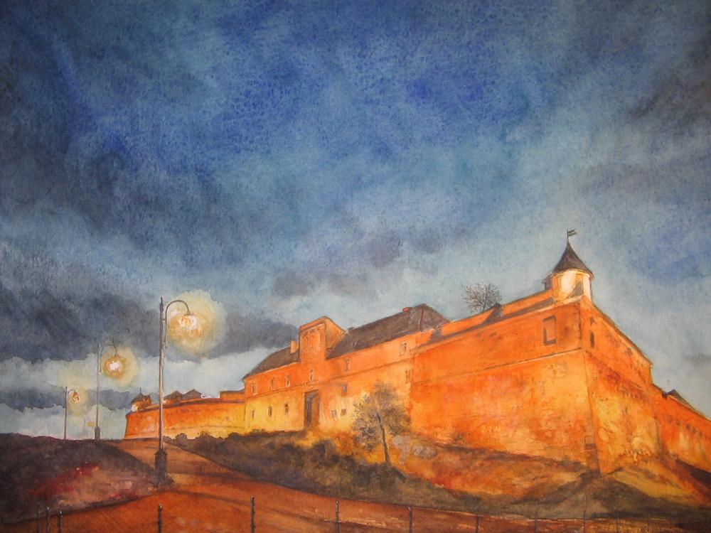 I paesaggi degli acquerelli di Giampiero Pierini, la Transilvania in Romania