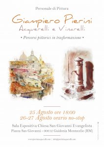 Pierini Acquerelli, gli acquerelli e i vinarelli di Giampiero Pierini in mostra a Bassiano e Guidonia Montecelio