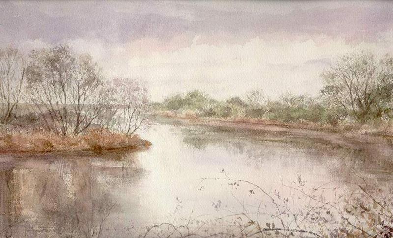 I paesaggi degli acquerelli di Giampiero Pierini, Luce mattutina