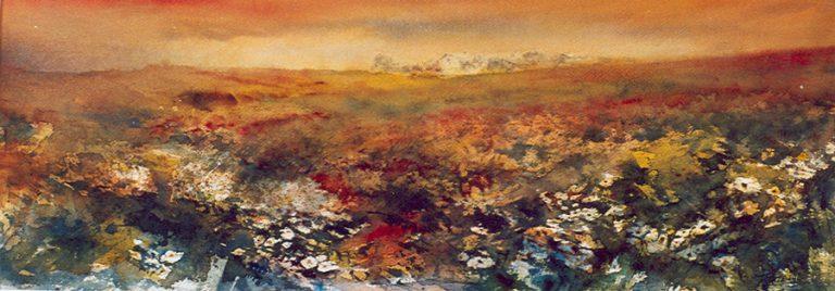 I paesaggi degli acquerelli di Giampiero Pierini, Dietro la collina