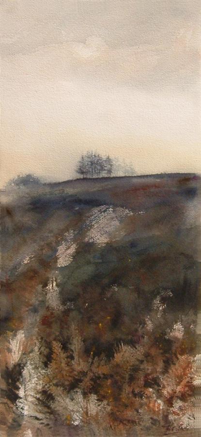 I paesaggi degli acquerelli di Giampiero Pierini, Sulla cresta della collina