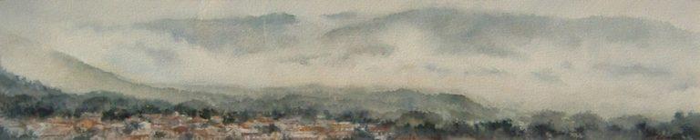 I paesaggi degli acquerelli di Giampiero Pierini, Valle nella nebbia