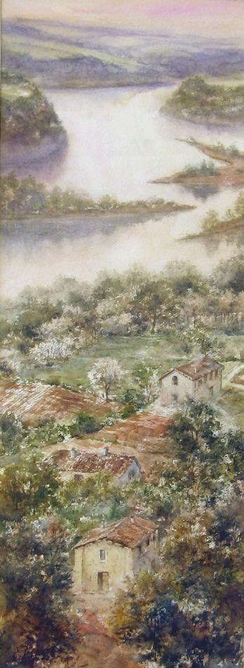 I paesaggi degli acquerelli di Giampiero Pierini, Al di là del fiume