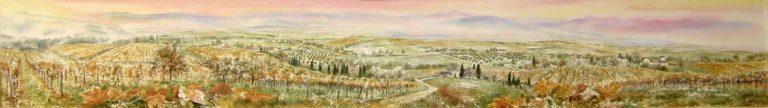 I paesaggi degli acquerelli di Giampiero Pierini, Colline toscane