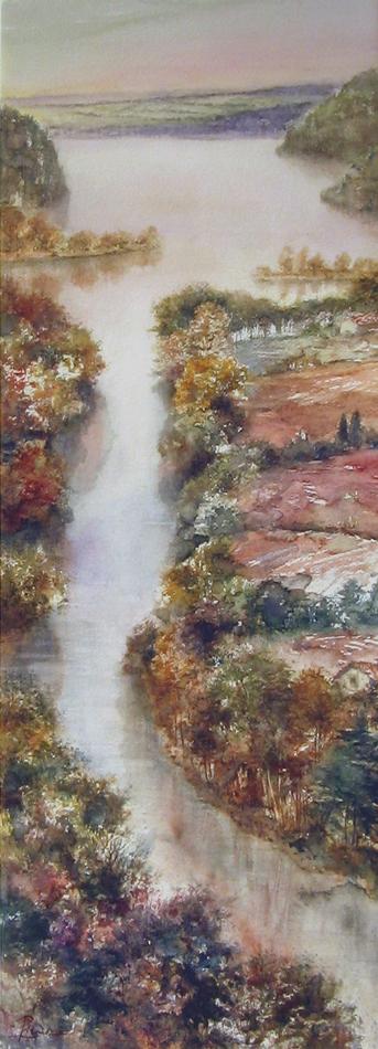 I paesaggi degli acquerelli di Giampiero Pierini, Come un nastro d'acqua lucente
