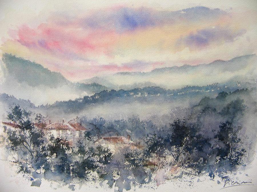 I paesaggi degli acquerelli di Giampiero Pierini, Valle dell'Aniene