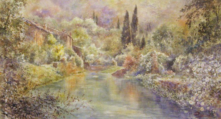 I paesaggi degli acquerelli di Giampiero Pierini, I giardini di Ninfa