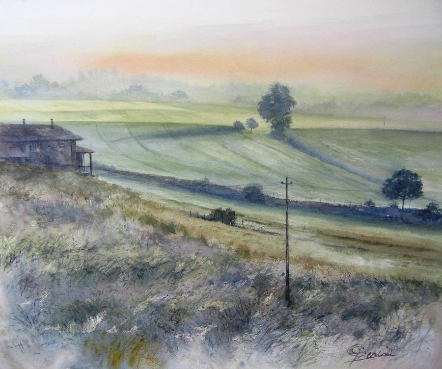 I paesaggi degli acquerelli di Giampiero Pierini, Panorama mattutino