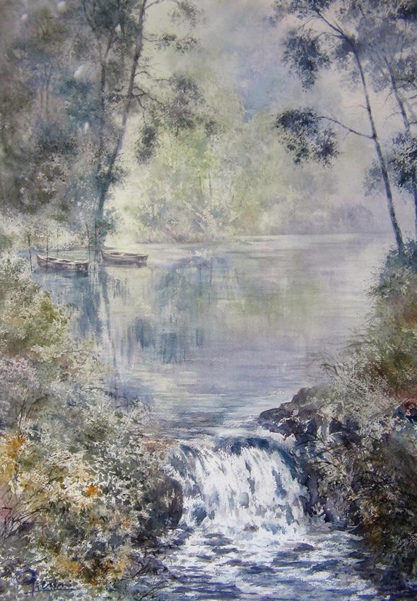 I paesaggi degli acquerelli di Giampiero Pierini, Un posto tranquillo