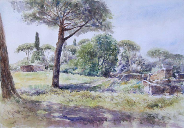I paesaggi degli acquerelli di Giampiero Pierini, Estemporanea di Ostia antica