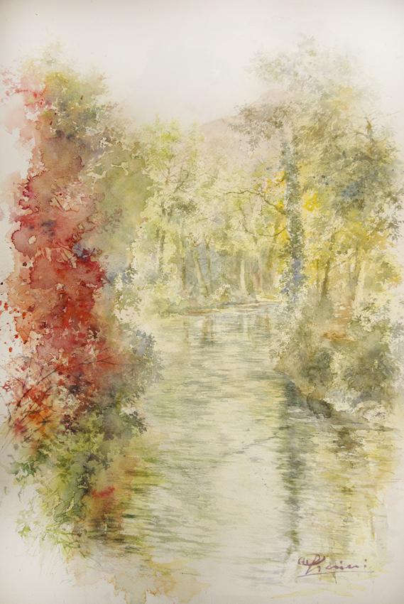 I paesaggi degli acquerelli di Giampiero Pierini, L'Aniene