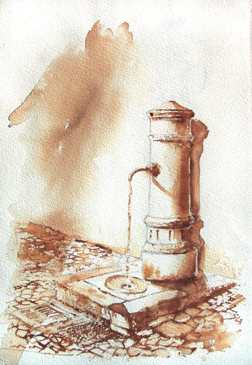 Acquerelli e vinarelli di Giampiero Pierini, altra fontana