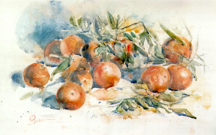 Le composizioni degli acquerelli di Giampiero Pierini, Clementine