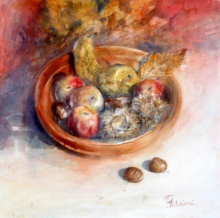 Le composizioni degli acquerelli di Giampiero Pierini, Calore autunnale