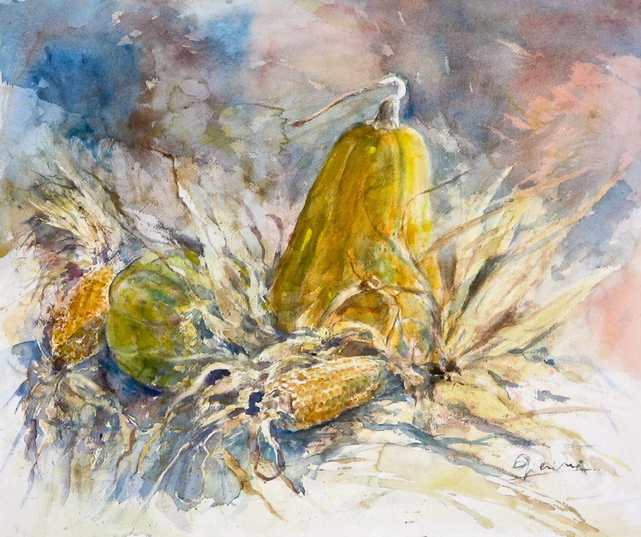 Le composizioni degli acquerelli di Giampiero Pierini, Dalla terra