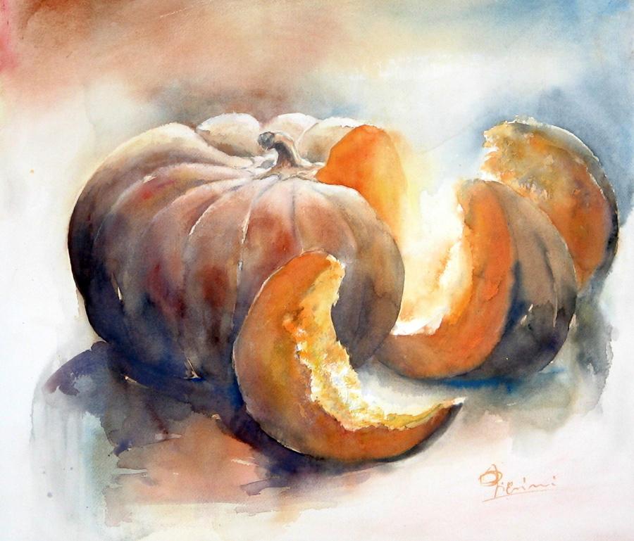 Le composizioni degli acquerelli di Giampiero Pierini, Lucente e polposa