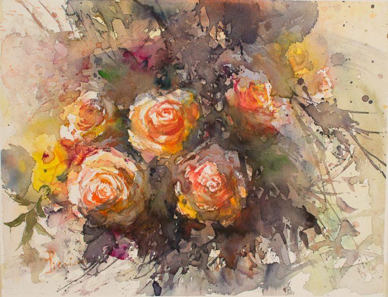 Le composizioni degli acquerelli di Giampiero Pierini, Rose