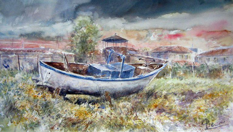 Altre opere e soggetti degli acquerelli di Giampiero Pierini, estemporanea ad Ostia