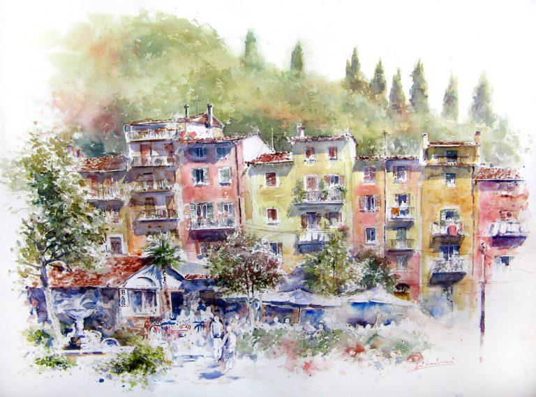 Altre opere e soggetti degli acquerelli di Giampiero Pierini, veduta di Arsoli