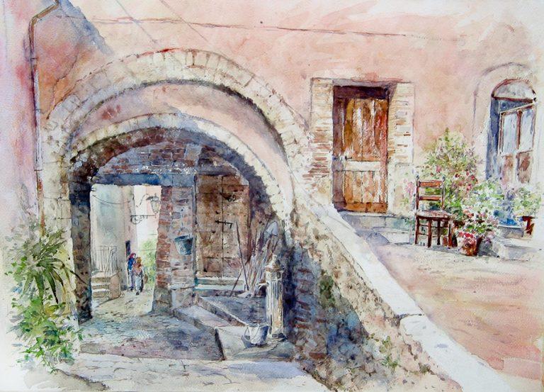 Altre opere e soggetti degli acquerelli di Giampiero Pierini, Ferentillo