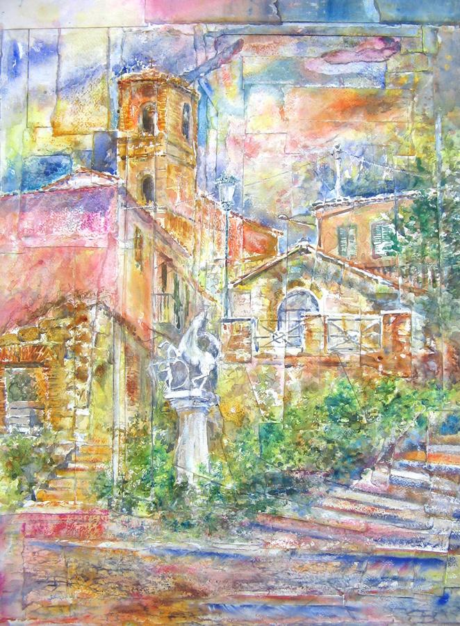 Altre opere e soggetti degli acquerelli di Giampiero Pierini, estemporanea di Ardea