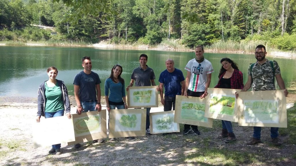 Corso di pittura di Giampiero Pierini per il Servizio Civile a Lagustelli di Percile